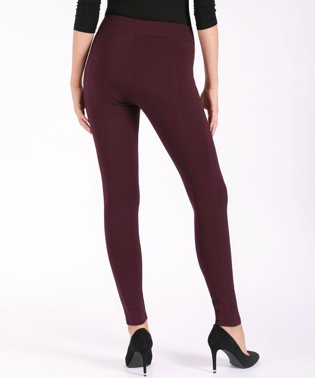 Luxe Ponte Instant Smooth Legging, Wineberry, hi-res