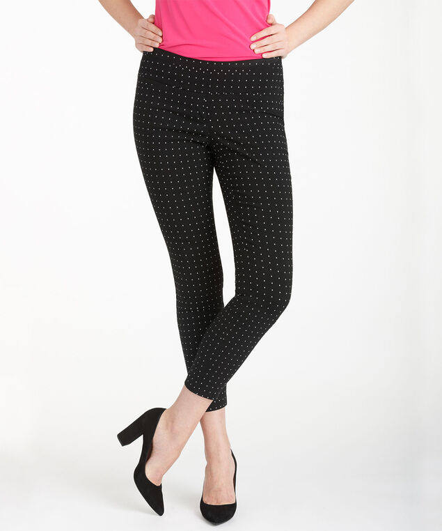 Microtwill Instant Smooth Ankle Pant, Black Pattern, hi-res
