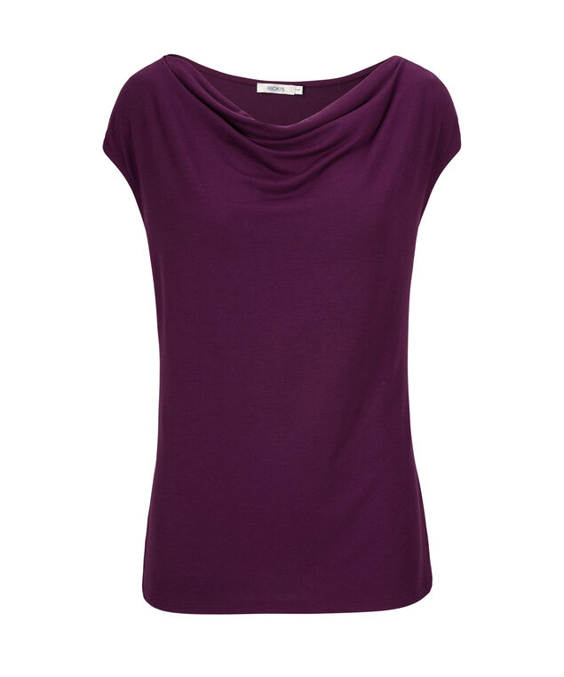 Cowl Neck Tee, Ultra Purple, hi-res
