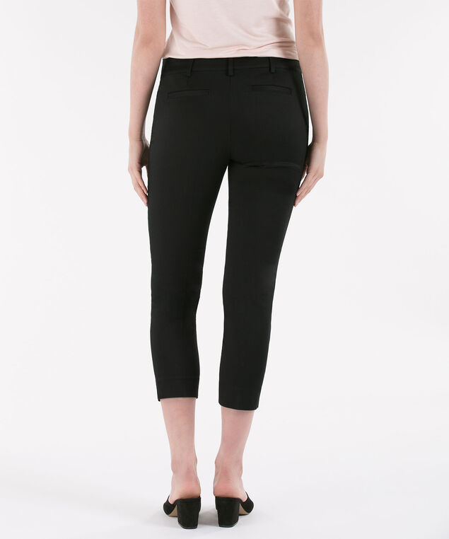 Black Sateen Crop, Black, hi-res