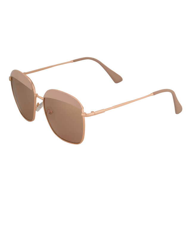 Rose Gold Sunglasses with Brow Detail, Blush/Rose Gold, hi-res