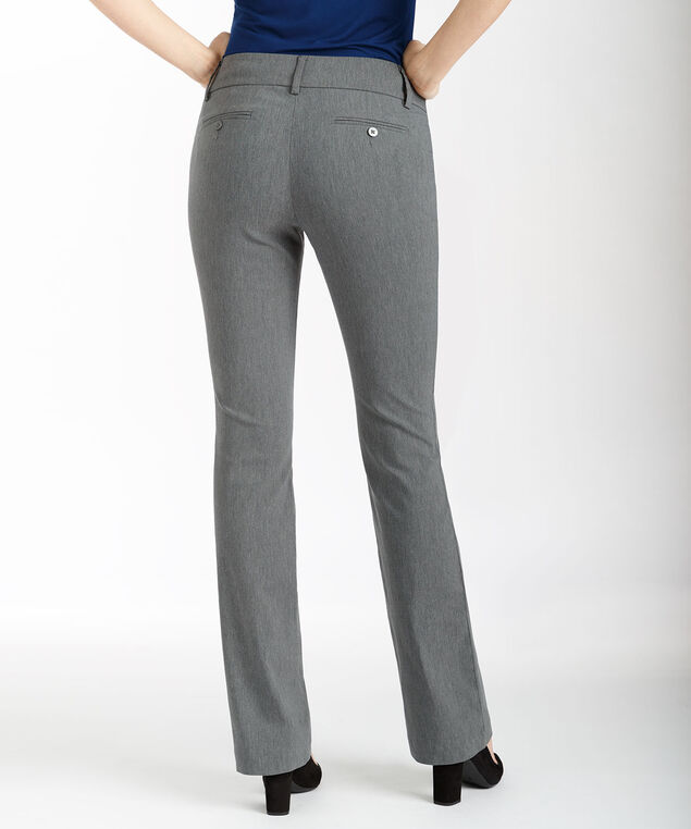 Microtwill Fly Front Bootcut, Heather Grey, hi-res