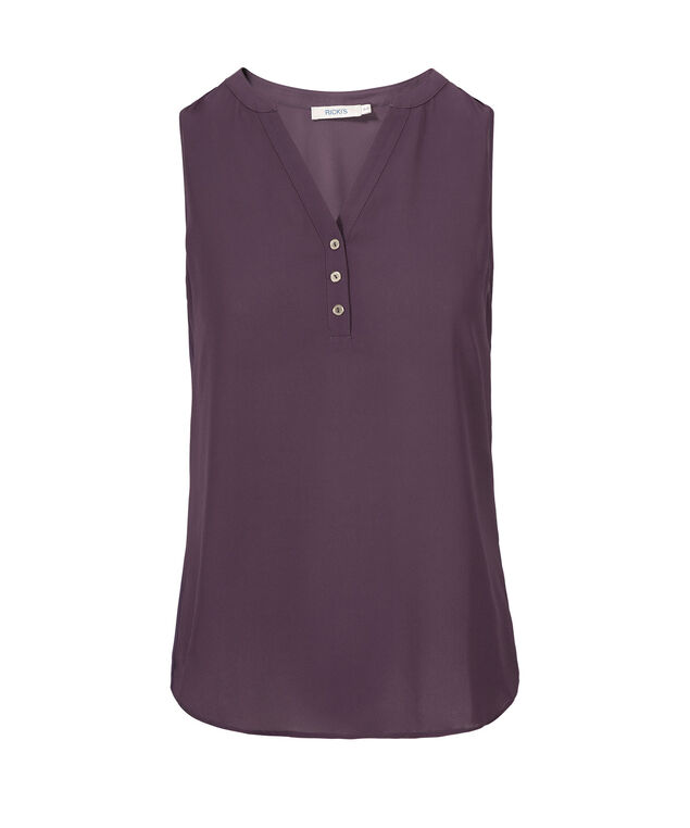 Sleeveless Henley, Sugar Plum, hi-res