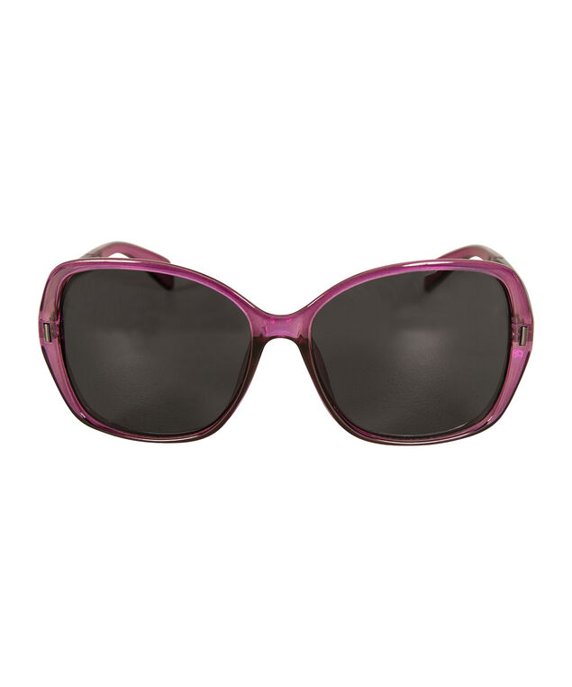 Pink Frame Sunglasses, Purple/Silver, hi-res