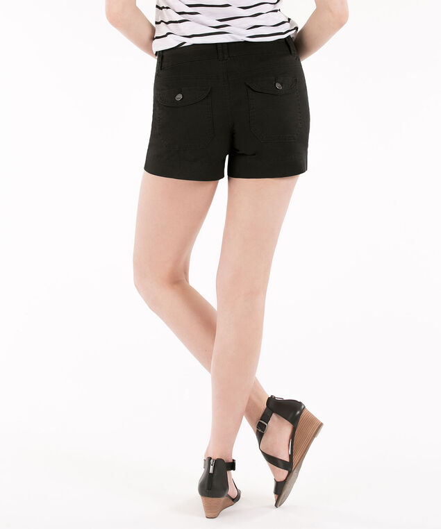 Twill Flap Pocket Short, Black, hi-res