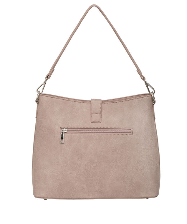 Top Flap Closure Bucket Bag, Misty Pink/Nickel, hi-res