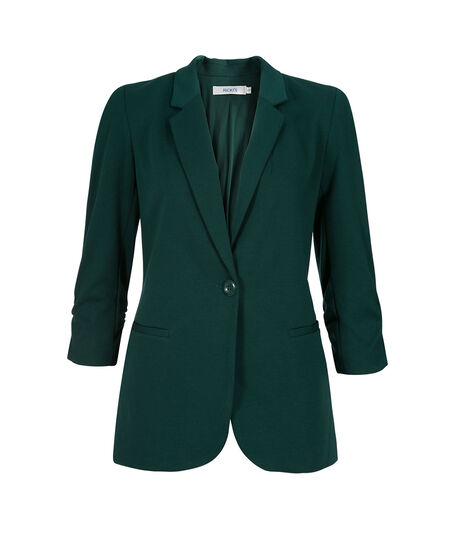 Knit Boyfriend Blazer, Deep Emerald, hi-res