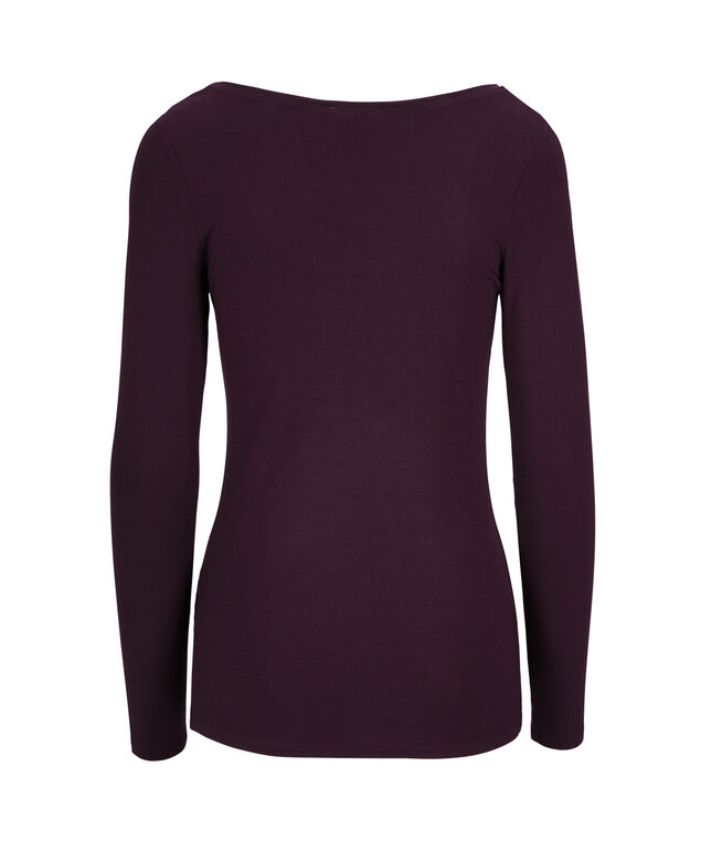 Super Soft Essential Tee, Dark Purple, hi-res