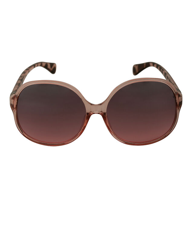 Round Pink Ombre Sunglasses, Pink, hi-res