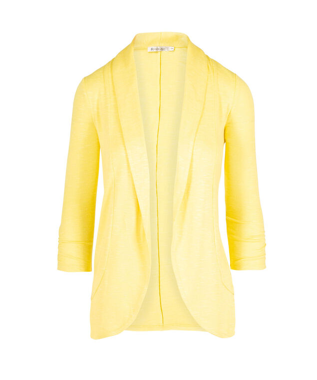 Shawl Collar Cardigan, Yellow, hi-res