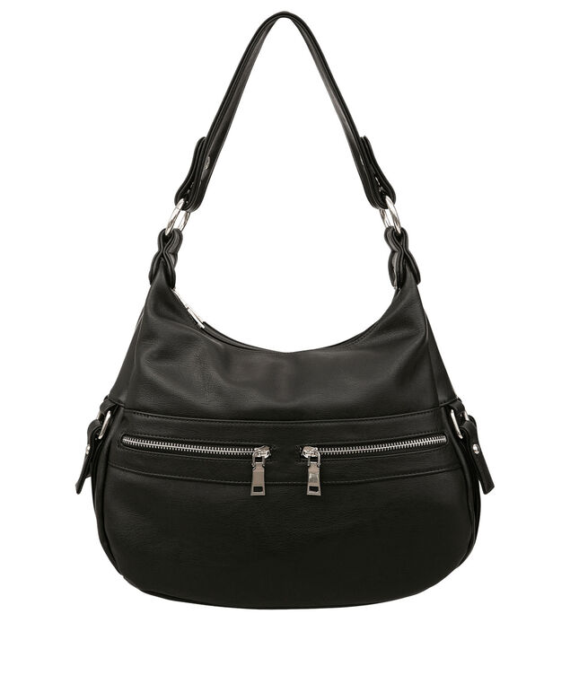 Multi-Pocket Satchel, Black/Nickel, hi-res