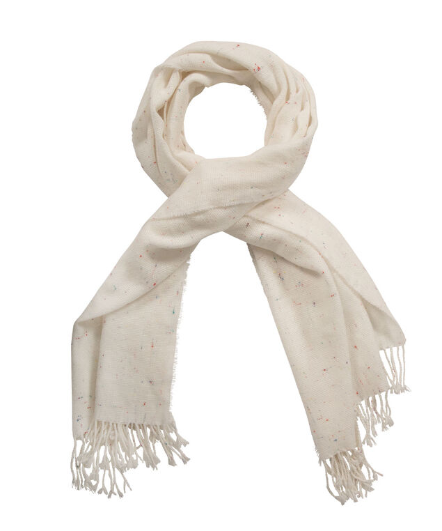 Speckled Scarf, Ivory, hi-res