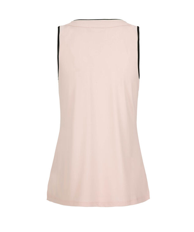 Ruffle Front Sleeveless Top, Rosewater, hi-res