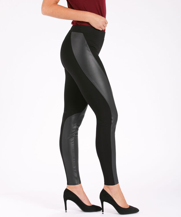 Luxe Ponte Wrap Legging, Black, hi-res