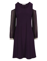 Cold Shoulder Trapeze Dress