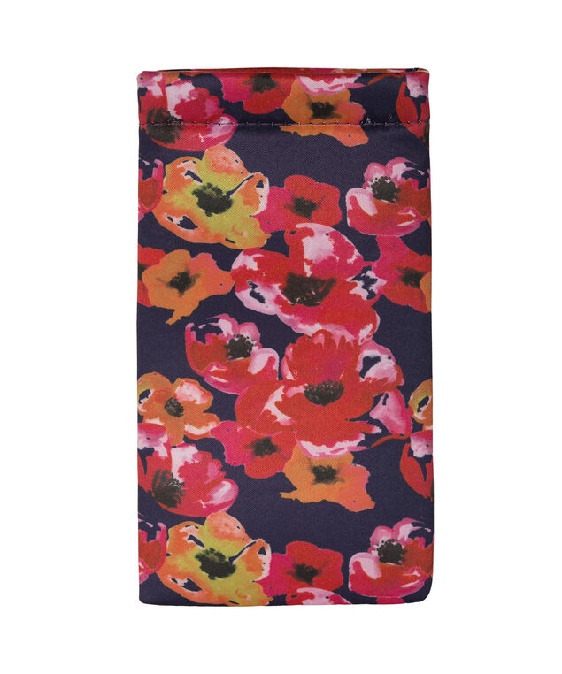 Bountiful Blooms Sunglasses Case, Navy/Red/Yellow, hi-res