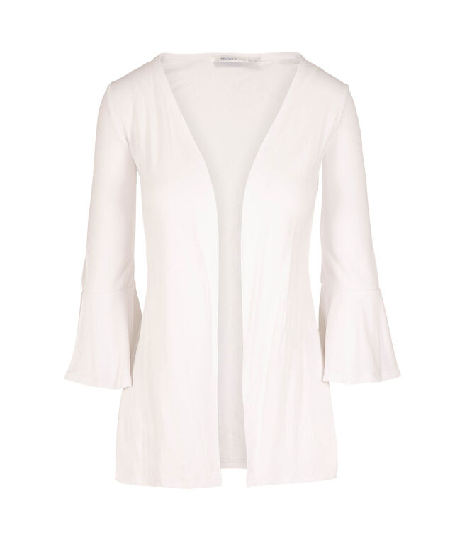 Bell Sleeve Cardigan, True White, hi-res