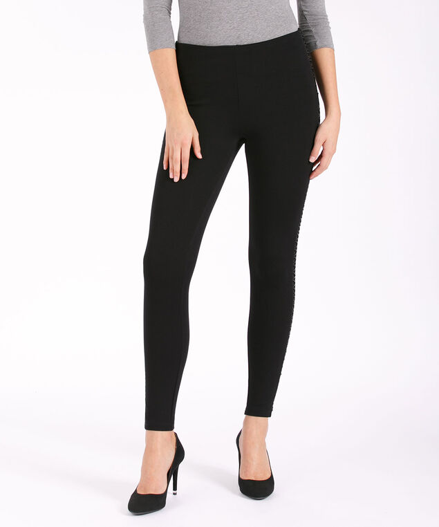 Luxe Ponte Criss Cross Legging, Black, hi-res