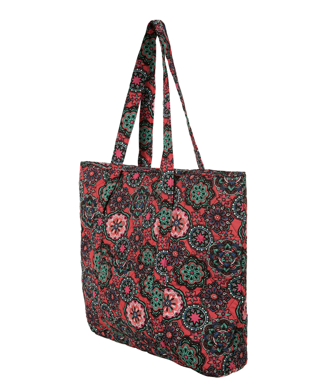 Quilted Floral Print Tote Bag | Rickis : quilted floral tote bags - Adamdwight.com