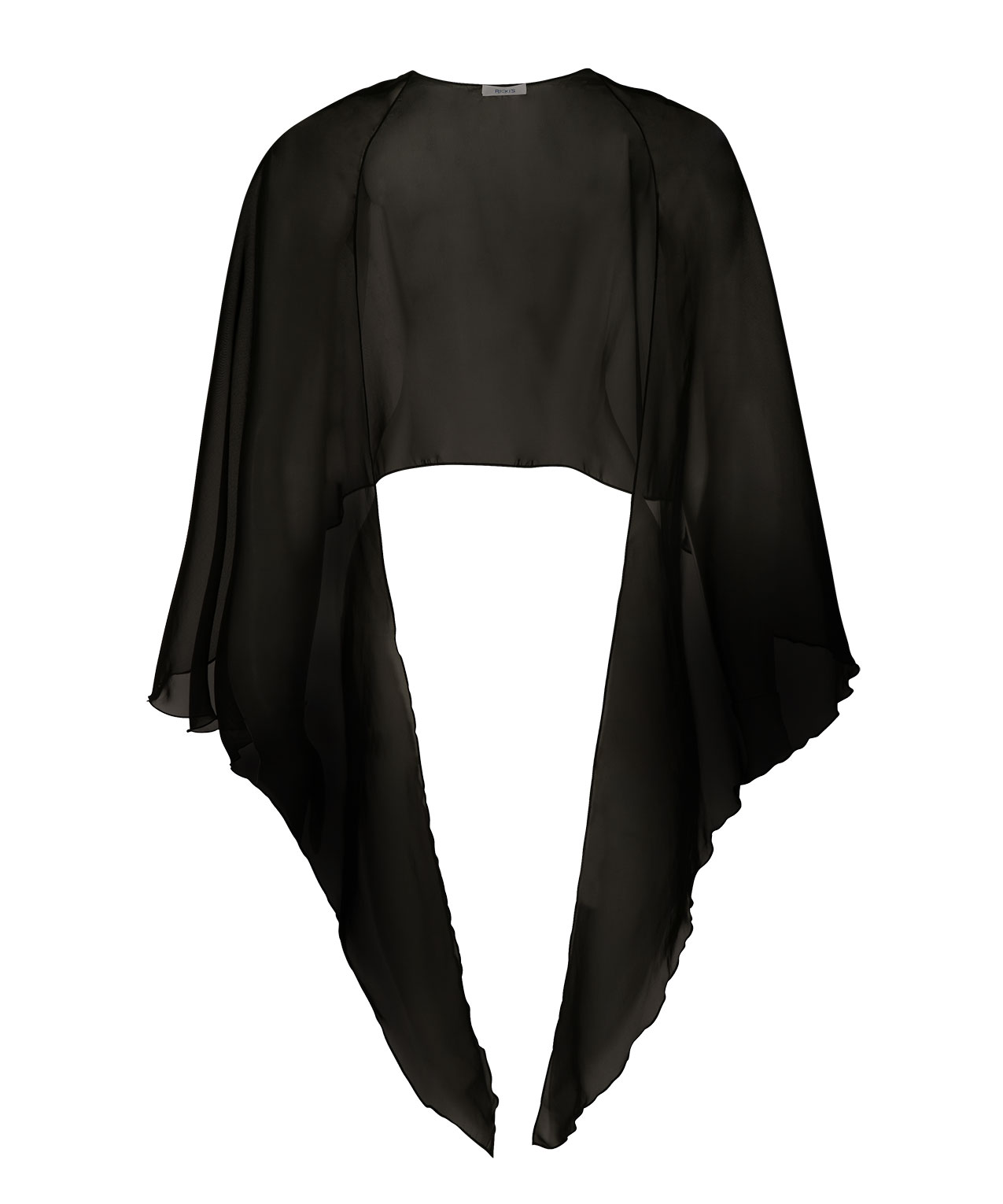 Sheer Black Shawl Scarf