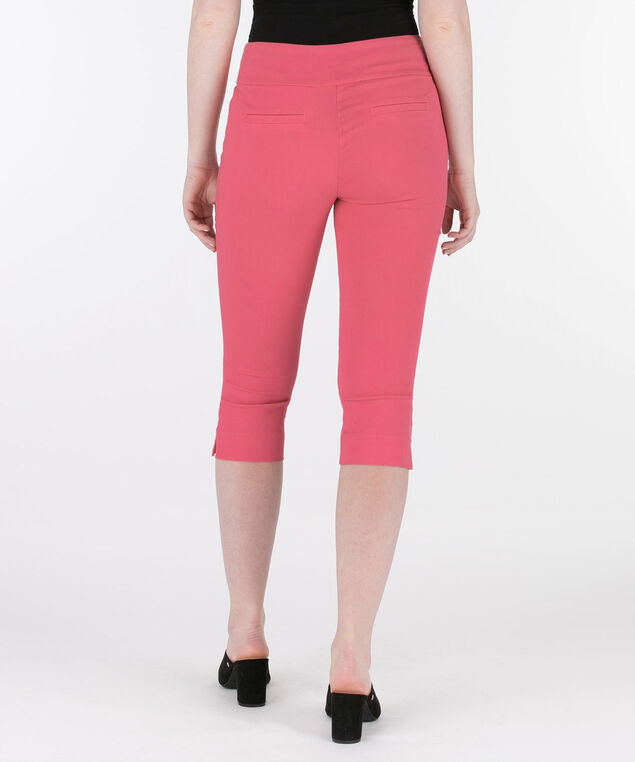 Microtwill Pull-On Capri, Watermelon, hi-res