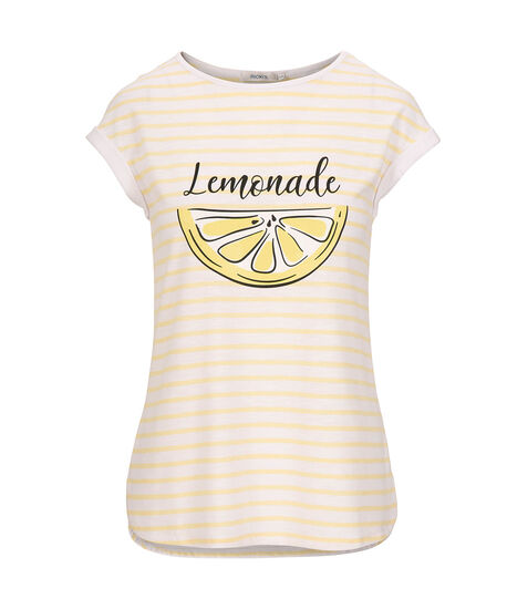 Lemonade Graphic Scoop Neck Tee, Milkshake/Yellow/Black, hi-res