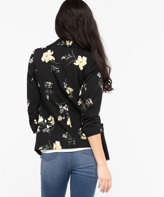 Easy Stretch Open Blazer, Black/Gold/Pearl, hi-res