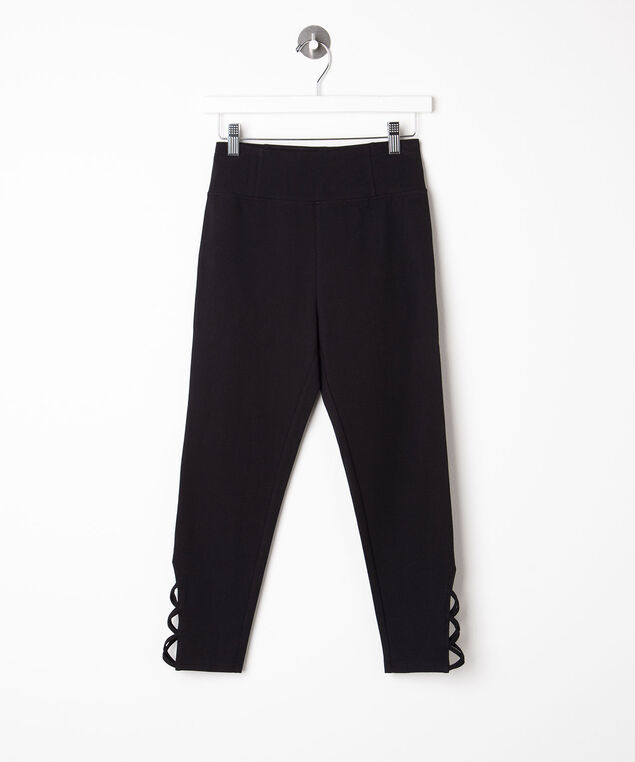 Criss Cross Knit Crop Legging, Black, hi-res