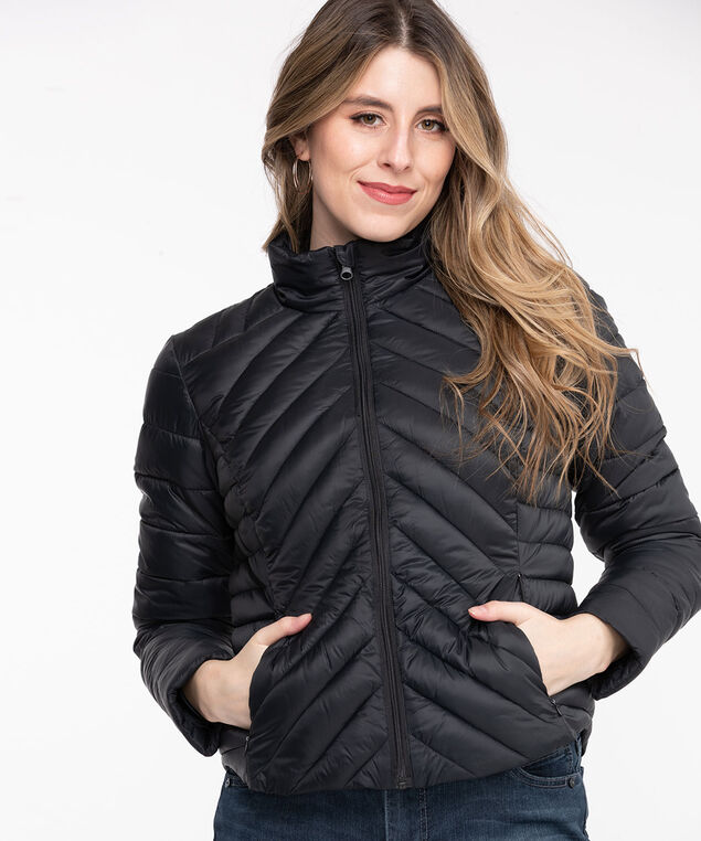 Packable Puffer Jacket, Black