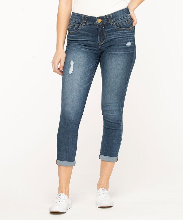 "Democracy ""Ab""solution Ankle Skimmer Jean, Mid Wash"