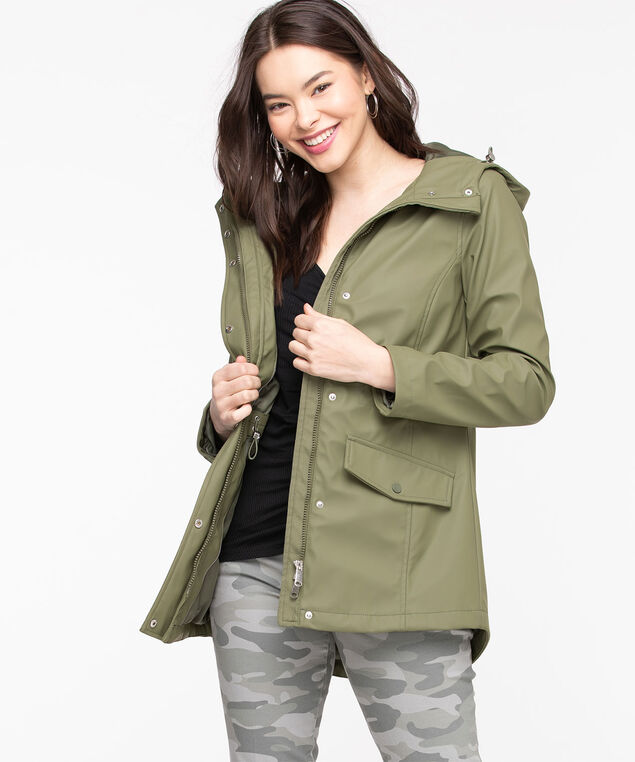 Hooded Rain Jacket, Four Leaf Clover