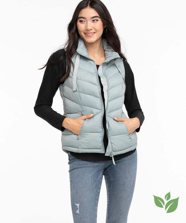 Eco-Friendly Packable Puffer Vest, Abyss