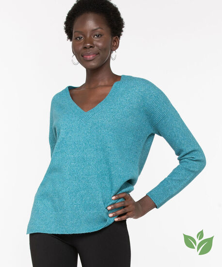 Eco-Friendly V-Neck Sweater, Reef Waters, hi-res