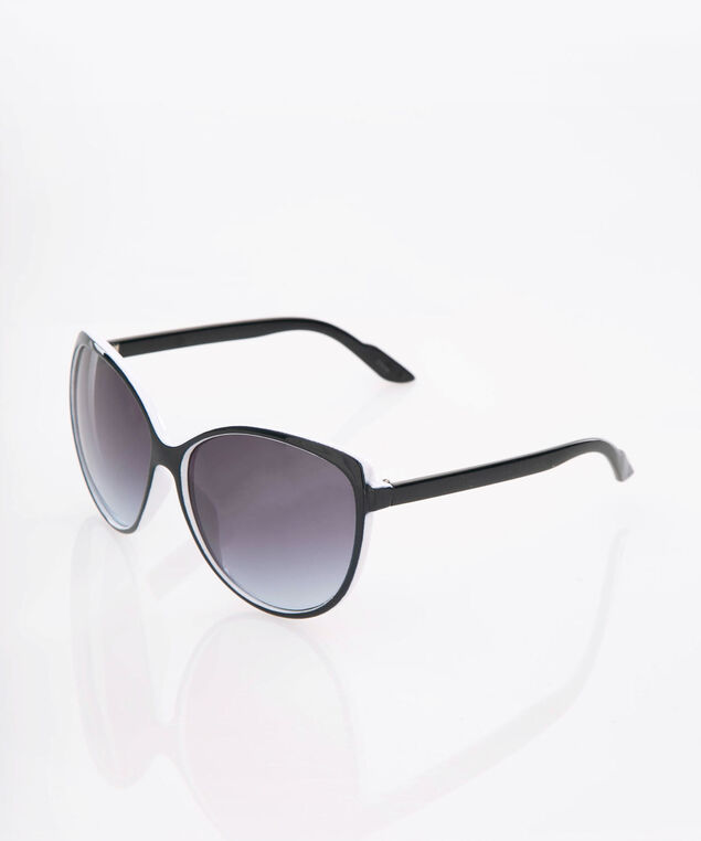 Ombre Cateye Sunglasses, True White/Summer Navy, hi-res