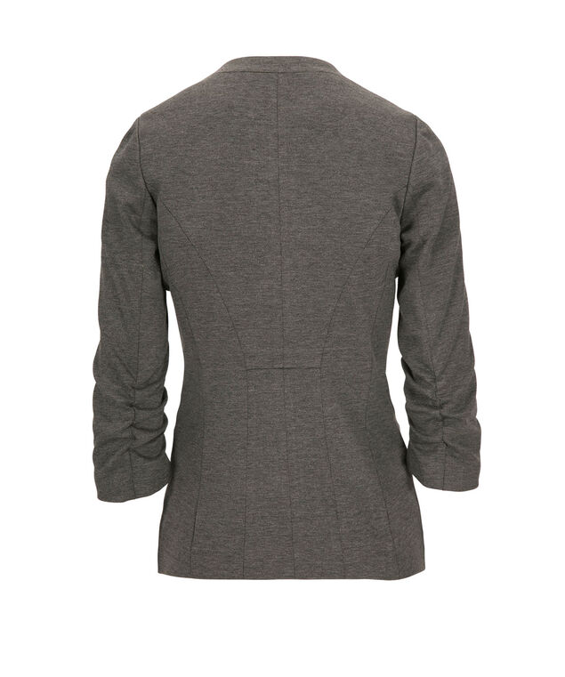 Knit Open Front Blazer, Grey, hi-res