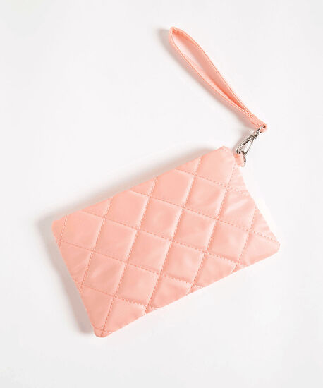 Quilted Everyday Essential Pouch, Soft Pink, hi-res