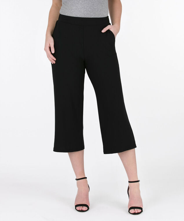 b53abafdd73724 ... Easy Stretch Crepe Culotte, Black, hi-res