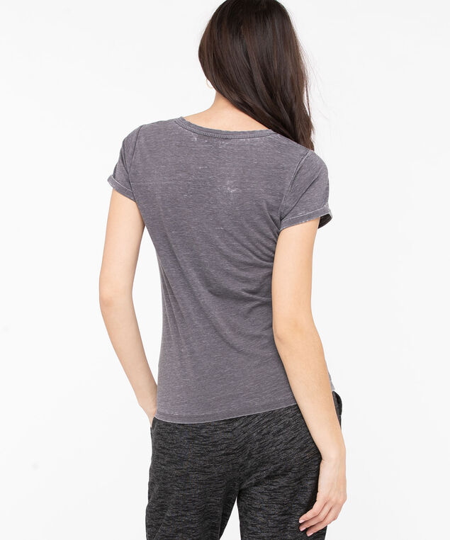 Grey Crew Neck Graphic Tee, Grey/Charcoal, hi-res