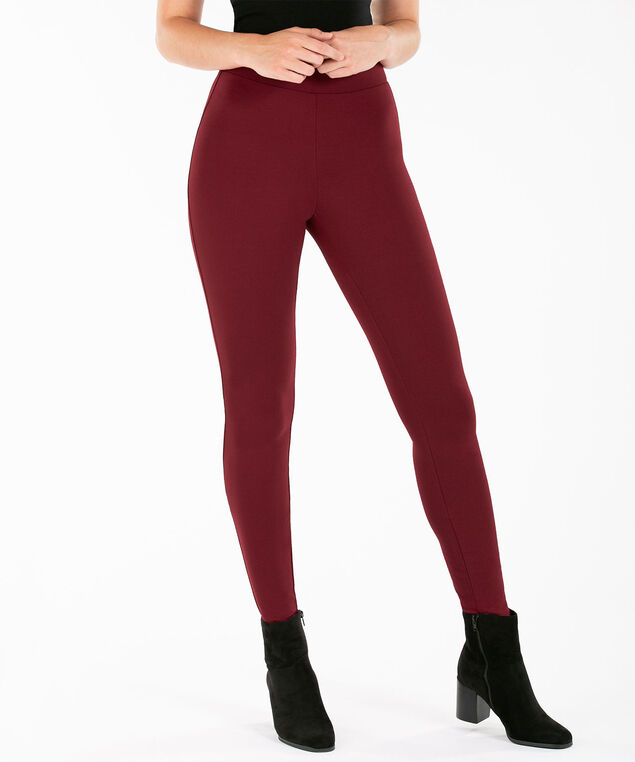 Luxe Ponte Legging, Ruby, hi-res
