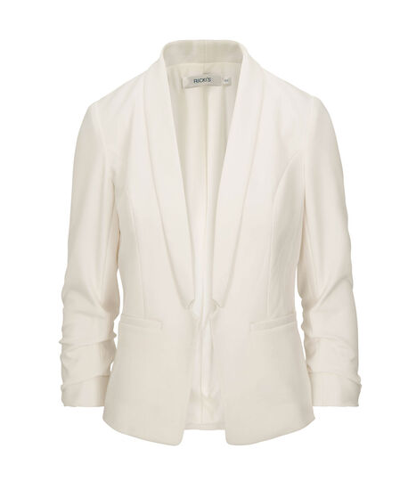 Knit Notch Collar Open Blazer, Pearl, hi-res