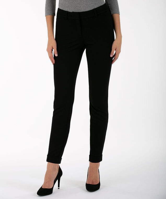 Luxe Ponte Fly Front Legging - Ankle, Black, hi-res