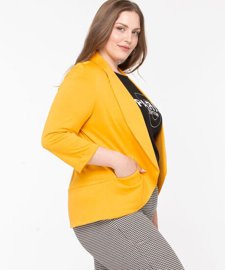 Terry Shawl Collar Cover Up, Harvest Yellow, hi-res