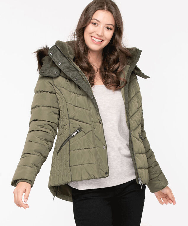 Thermolite® EcoMade Short Puffer, Olive Night, hi-res