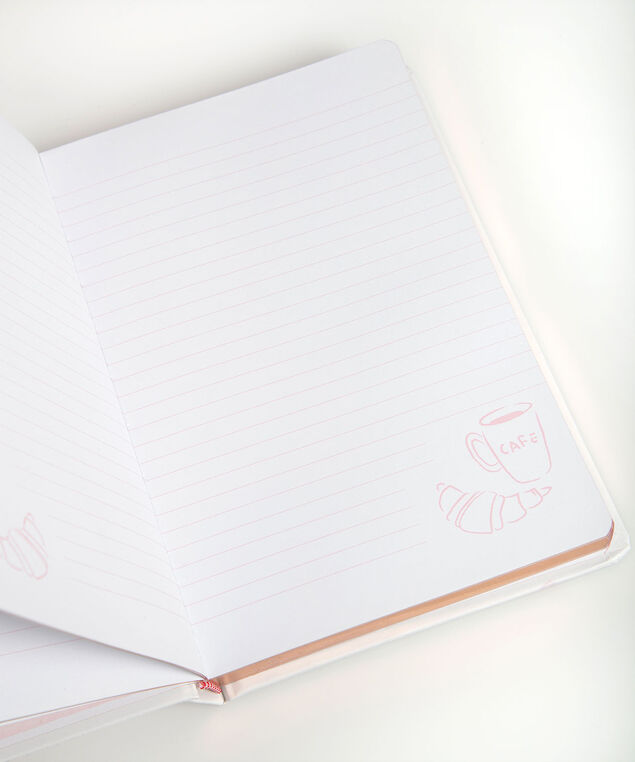 Caffeine Club Bound Notebook, Pearl/Rose Petal/Black, hi-res