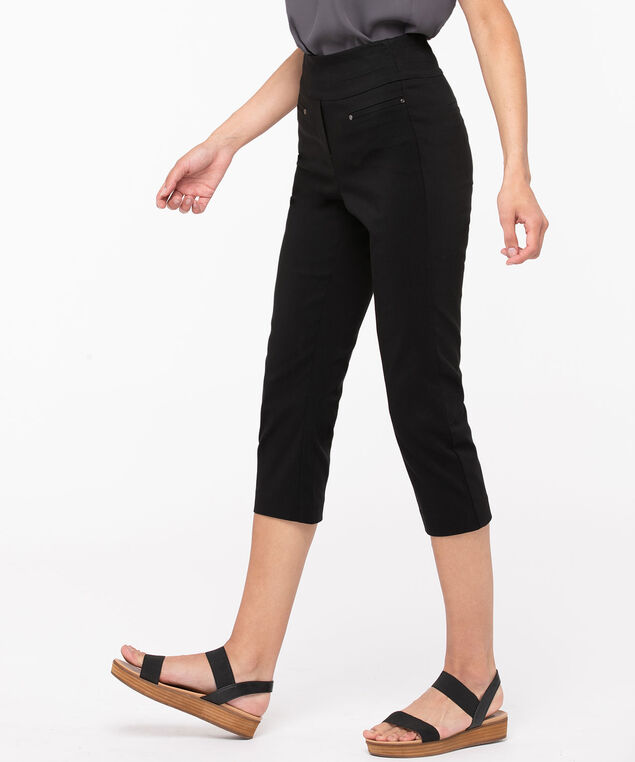 Microtwill High Rise Capri, Black