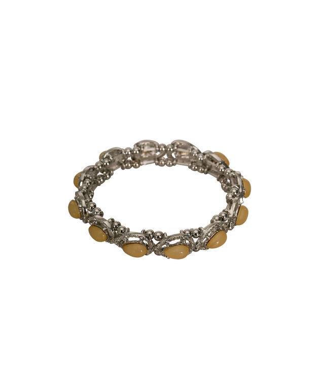 Teardrop Stone & Crystal Bracelet, Yellow/Rhodium, hi-res