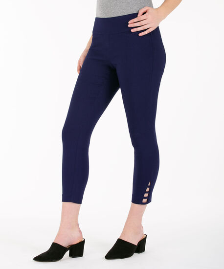 Ladder-Trim Microtwill Crop Pant, Deep Sapphire, hi-res
