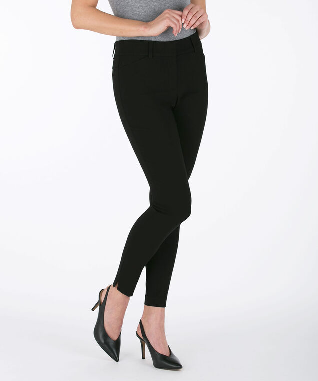 Microtwill Fly Front Ankle Pant - Short, Black, hi-res