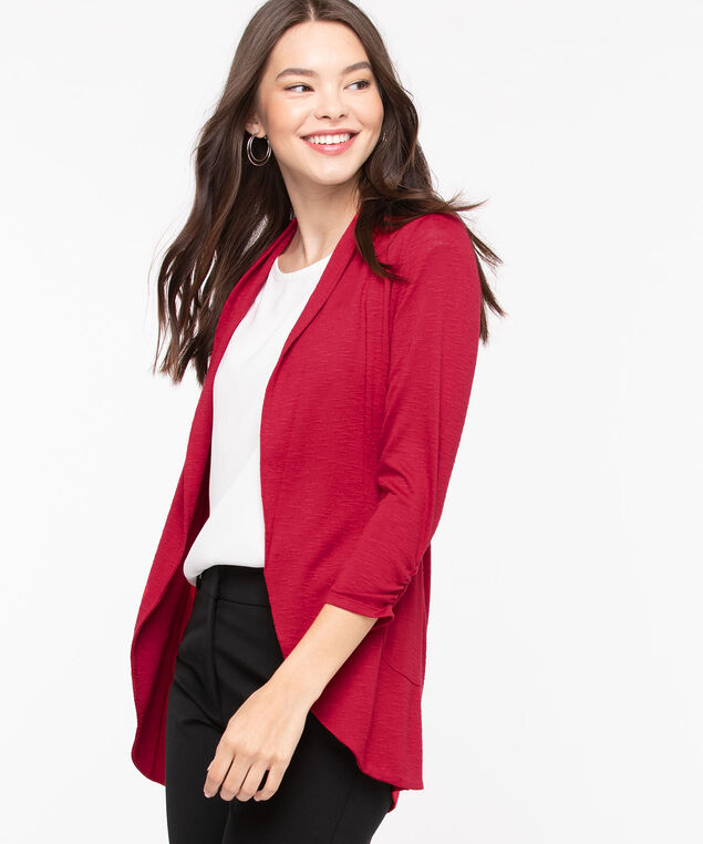 Shawl Collar Cardigan, Hibiscus, hi-res