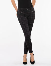 Luxe Ponte Button Front Pull on Pant